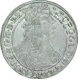 Śląsk, Leopold I 1657-1705, XV krajcarów 1663, Wrocław.