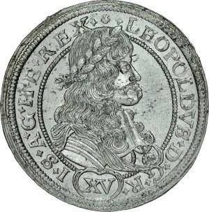 Śląsk, Leopold I 1657-1705, XV krajcarów 1674, Wrocław.