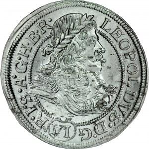 Śląsk, Leopold I 1657-1705, VI krajcarów 1673, Wrocław.