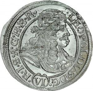 Śląsk, Leopold I 1657-1705, VI krajcarów 1674, Wrocław.