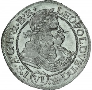 Śląsk, Leopold I 1657-1705, VI krajcarów 1675, Wrocław.
