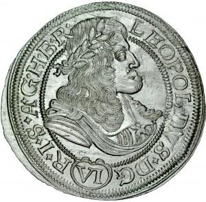 Śląsk, Leopold I 1657-1705, VI krajcarów 1675, Opole.
