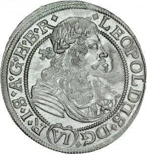 Śląsk, Leopold I 1657-1705, VI krajcarów 1676, Opole.
