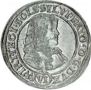Śląsk, Księstwo Wirtembersko-Oleśnickie, Sylwiusz Fryderyk 1668-1697, VI krajcarów 1674, Oleśnica.