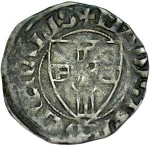Kwartnik, Winrych von Kniprode 1351-1382, Av.: Tarcza krzyżacka, Rv.: Krzyż prosty.