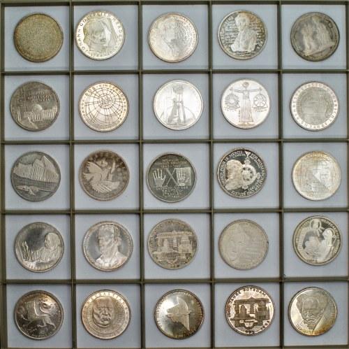NIEMCY - 25 x 10 marek (1994 - 2001) - 387,40 gram Ag 625