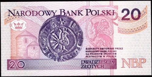 20 złotych 1994 - AA 0002176 - druk TDLR Londyn