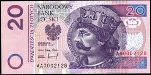 20 złotych 1994 - AA 0002128 - druk TDLR Londyn