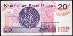 20 złotych 1994 - AA 0003181 - druk TDLR Londyn