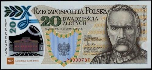 20 złotych 2014 - 100. rocznica utworzenia Legionów Polskich -atrakcyjny niski numer seryjny 0000787