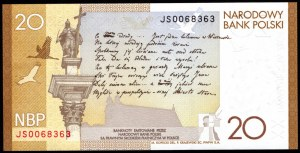 20 złotych 2009 - 200. rocznica urodzin Juliusza Słowackiego