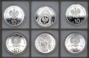 Monety kolekcjonerskie - 6 x 10 złotych (1997-1998) - Nagano, Zygmunt III Waza, Powszechna Deklaracja Praw Człowieka + inne