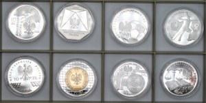 Monety kolekcjonerskie - 8 x 10 złotych 2006 - SGH, Dzieje Złotego, Turyn 2006, + inne