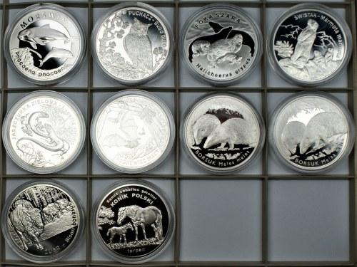 Monety Kolekcjonerskie 10 x 20 złotych (2004-2014) same zwierzęta
