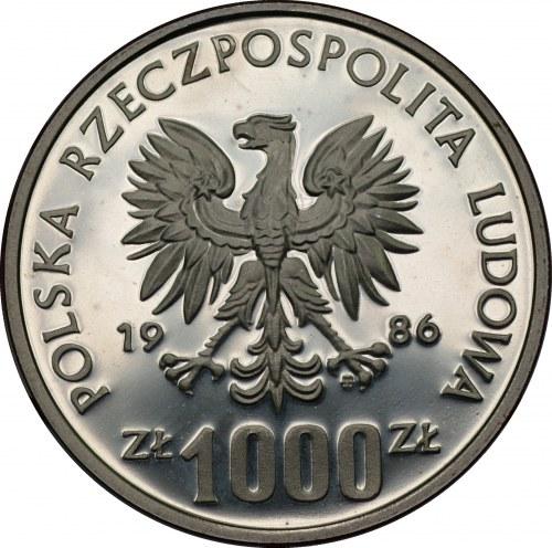 Ochrona Środowiska - PRÓBA - 1000 złotych 1986 - SOWA