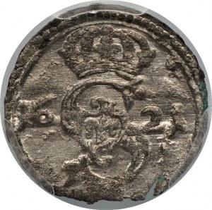 Zygmunt III Waza - Dwudenar Wilno 1621 - PCGS MS63