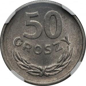50 groszy 1968 rzadki rocznik - NGC MS66