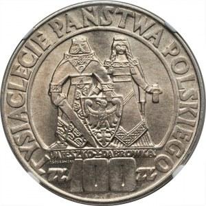 100 złotych 1966 - Mieszko i Dąbrówka - NGC MS65