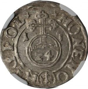 Zygmunt III Waza - Półtorak Bydgoszcz 1617 - NGC AU58