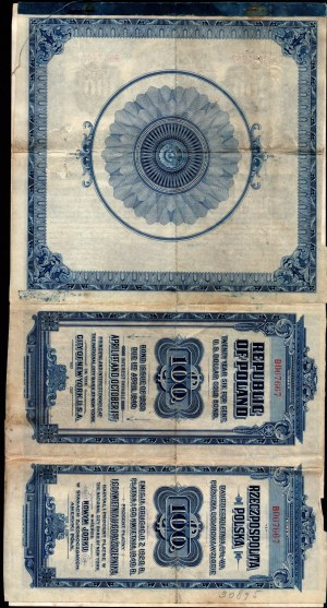 6% Pożyczka Dolarowa 1920 - Obligacja 100 $ - po konwersji -