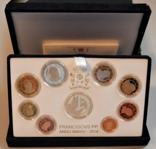 WATYKAN - Kanonizacja Jana Pawła II - zestaw od 1 centa do 2 euro + złote 50 euro Au917