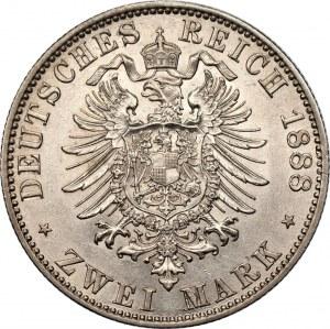 NIEMCY - Prusy - Fryderyk III - 2 marki 1888 - (A) Berlin