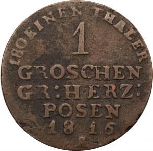 Wielkie Księstwo Poznańskie - 1 grosz 1816 - (A) Berlin