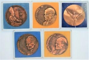 Zestaw 5 Medali z Janem Pawłem II