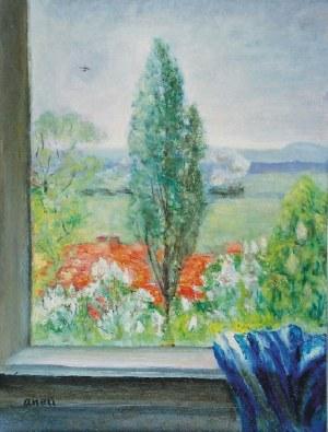Aneri Irena Weissowa (1888-1981), Widok z okna - Kalwaria, ok. 1960