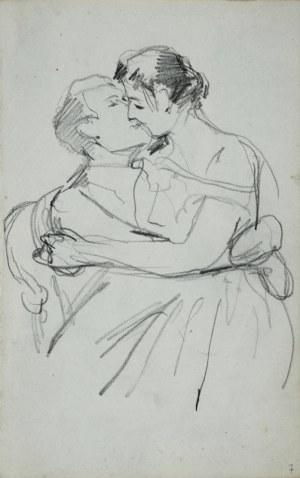 Stanisław Kaczor Batowski (1866-1945), Para w uścisku miłosnym - Pocałunek