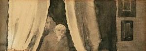 Włodzimierz Tetmajer (1861 - 1923), Scena we wnętrzu - postać ojca artysty