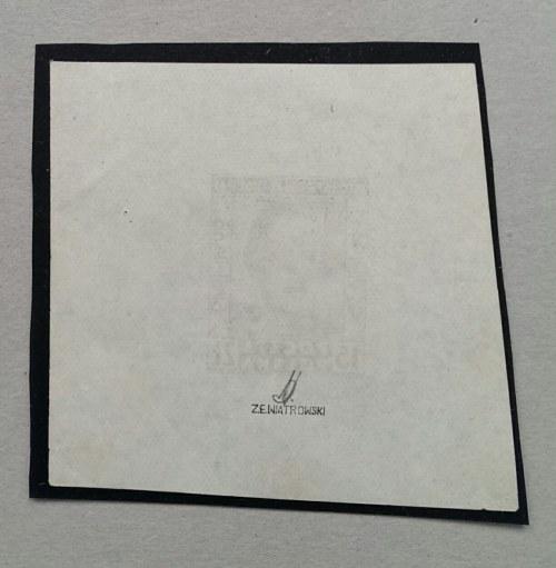 Nr.496 Nie katalogowana próba projektu znaczka