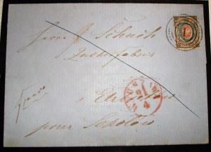 nr.1a Całość pocztowa z pięknym stemplem lakowym