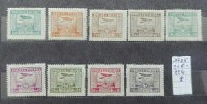 Nr.216-224 Wydanie na przesyłki lotnicze