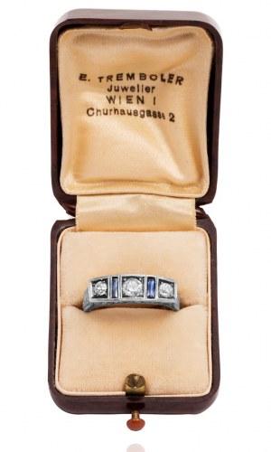 Dawny pierścionek Wiedeń - ART DECO 1933r.