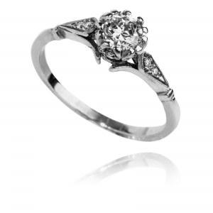 Artystyczny pierścionek z brylantami 0.42ct