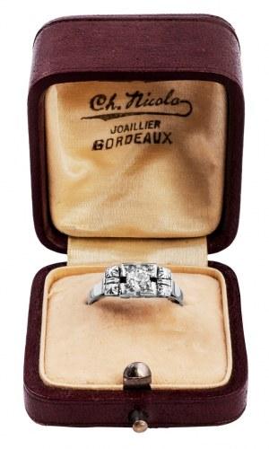 Dawny pierścionek ART DECO ok 1930r