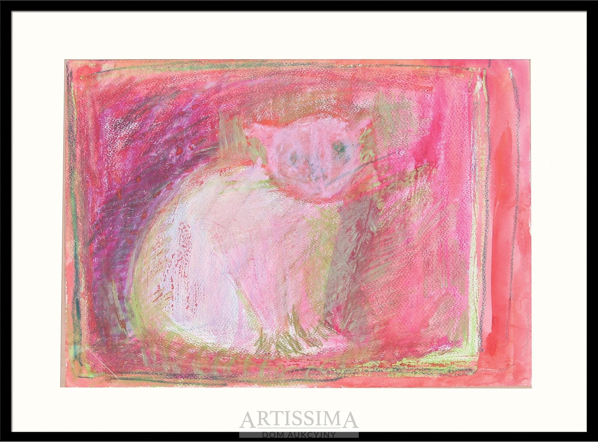 Barbara Jonscher (1926–1986), Biały kotek*