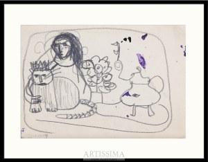 Barbara Jonscher (1926–1986), Dziewczyna z kotem*