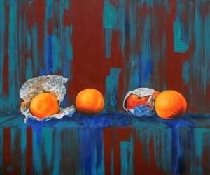 Jolanta Lach, Studium z pomarańczami, 2018 r.
