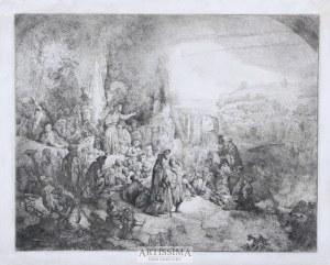 Jan Piotr Norblin de la Gourdaine (Misy-Faut-Yonne 1745 - Paryż 1830), Kazanie Św. Jana Chrzciciela według Rembrandta, 1808