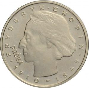 Polska, PRL, 2000 złotych 1977, F. Chopin, próba niklowa, UNC