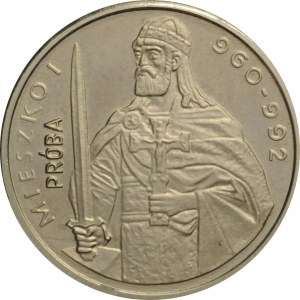 Polska, PRL, 2000 złotych 1979, Mieszko I, półpostać, próba niklowa, UNC