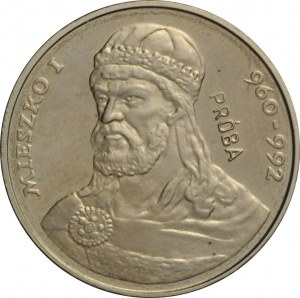 Polska, PRL, 2000 złotych 1979, Mieszko I, próba niklowa, UNC
