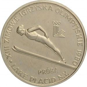 Polska, PRL, 2000 złotych 1980, Lake Placid NY, próba niklowa, UNC