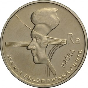 Polska, PRL, 2000 złotych 1979, Maria Skłodowska-Curie, próba niklowa, UNC
