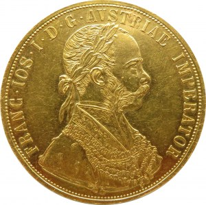 Austro-Węgry, Franciszek Józef I, 4 dukaty 1906, Wiedeń, stare bicie