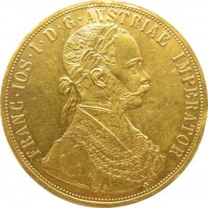 Austro-Węgry, Franciszek Józef I, 4 dukaty 1912, Wiedeń, stare bicie