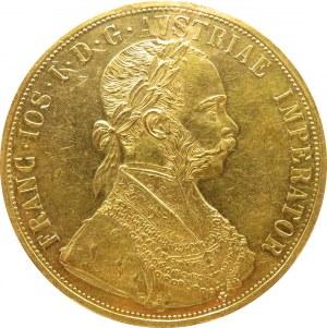 Austro-Węgry, Franciszek Józef I, 4 dukaty 1913, Wiedeń, stare bicie