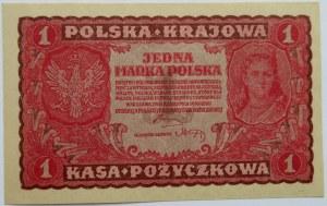 Polska, II RP, 1 marka 1919, I seria GB, UNC